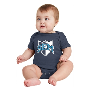 Wyoming Seminary Navy Infant Short Sleeve Baby Rib Bodysuit