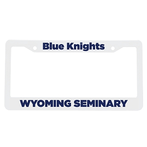 Wyoming Seminary License Plate Holder