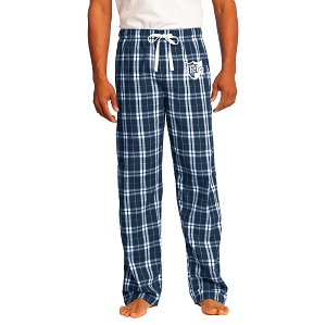 Wyoming Seminary Young Mens Navy Flannel Plaid Pant