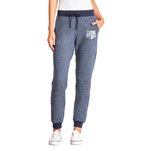 Wyoming Seminary Ladies Navy Denim Fleece Jogger