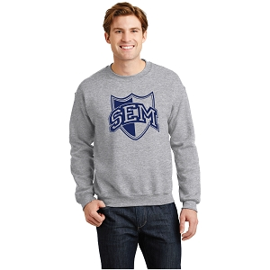 Wyoming Seminary Sport Grey Heavy Blend Crewneck Sweatshirt