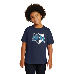 Wyoming Seminary Navy Youth Heavy Cotton  100% Cotton T-Shirt