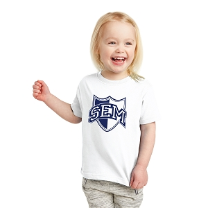 Wyoming Seminary Rabbit Skins White Toddler Fine Jersey Tee