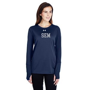 Wyoming Seminary Under Armour Ladies Long-Sleeve Locker T-Shirt 2.0