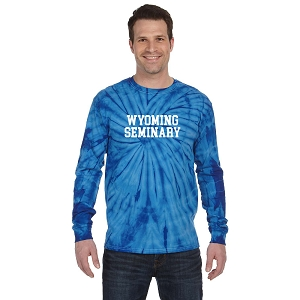 Wyoming Seminary 100% Cotton Long-Sleeve Tie-Dyed T-Shirt