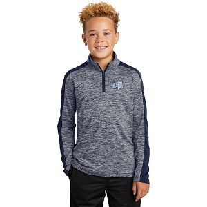 Wyoming Seminary Youth PosiCharge Electric Heather 1/4-Zip Pullover