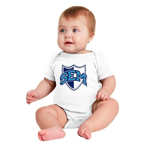 Wyoming Seminary White Infant Short Sleeve Baby Rib Bodysuit