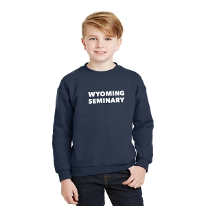 Wyoming Seminary Navy Youth Heavy Blend Crewneck Sweatshirt