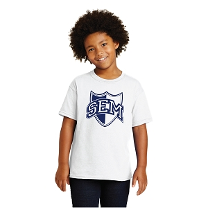 Wyoming Seminary White Youth Heavy Cotton  100% Cotton T-Shirt
