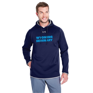 Wyoming Seminary Midnight Storm Under Armour Mens Double Threat Armour Fleece Hoodie